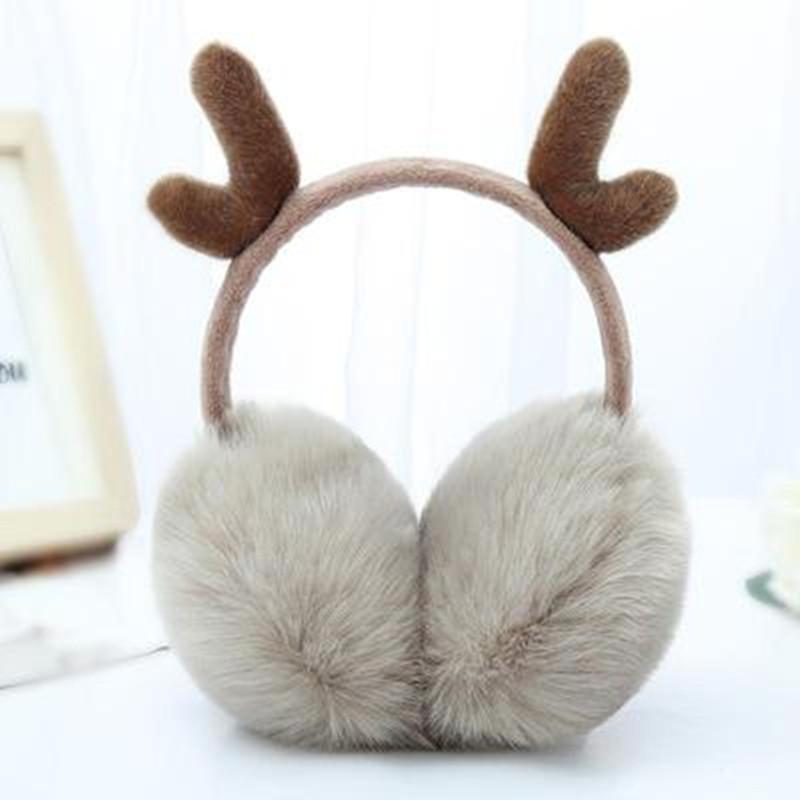 网红鹿角耳罩耳〖套保暖女耳暖耳捂子韩版可爱耳包冬季成人护耳朵罩