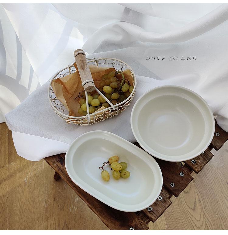 白屿韩式同款厚边碗家用日式北欧单个创意个性水果沙拉碗酸奶详细照片