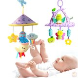 Good night baby bed bell built-in trolley pendant small toys hanging loop new baby in the car