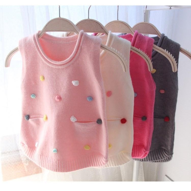 童装秋装男女童婴幼儿毛线针织马甲女宝宝开衫背心坎肩0-1-2-3岁