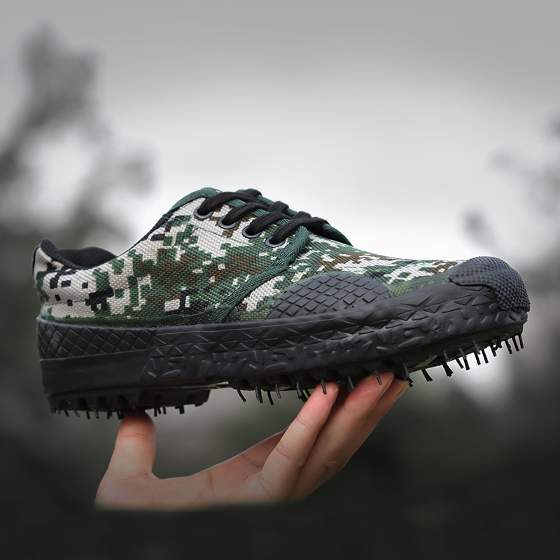 Liberation shoes men's Army shoes military training camouflage shoes 07 for training shoes site wear-resistant labor insurance shoes work shoes rubber shoes