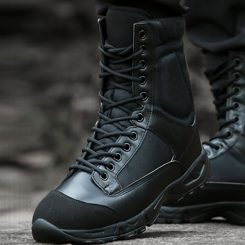 Winter airborne combat boots men's ultralight boots special forces tactical shoes breathable wear-resistant boots desert boots