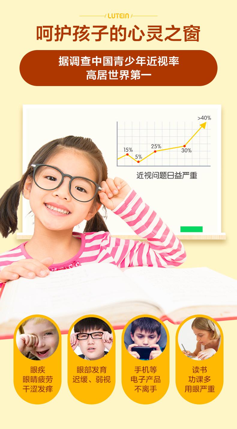 美国进口 自然之珍 叶黄素护眼软糖 80粒 保护青少年视力 预防近视 图5