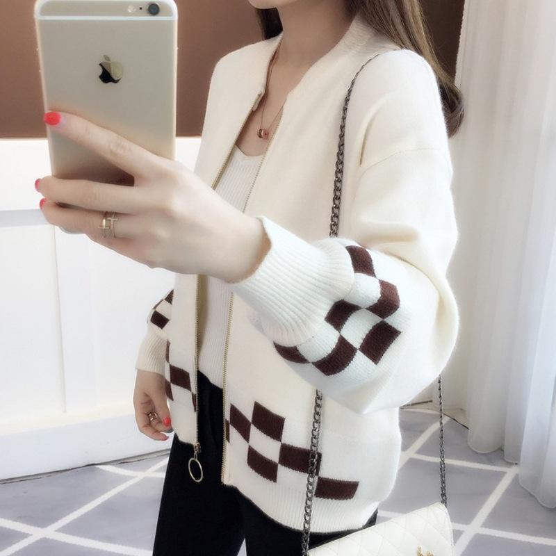 针织衫女秋冬季长袖2020新款韩版外套潮流毛衣宽松圆领加厚单件