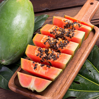 Red heart papaya net weight 5 kg single fruit 600g + fresh fruit season box rock sugar heart blue papaya origin straight hair