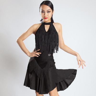 YJFY Latin Dress Female Adult Liusu Dress Dance Dress Latin Dress New BY174