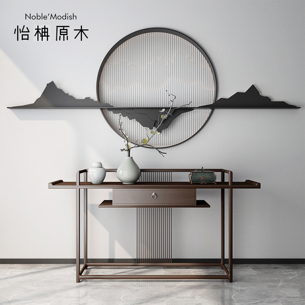 Античный вход тайвань новый китайский стиль современный простой алтарь смысл статья дело вход стол опираться на стена вводить семья для стол дерево дело тайвань
