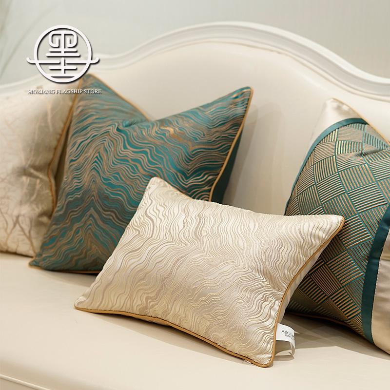 轻奢风客厅沙发抱枕靠垫办公室腰垫腰枕床上大靠背高档靠枕套枕芯