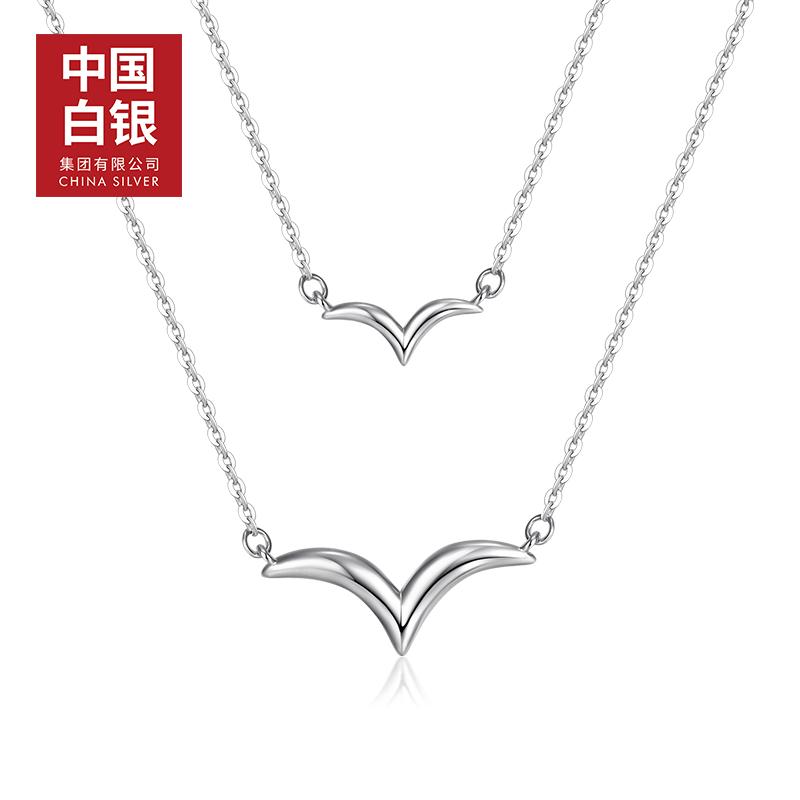 【中国白银】 崭露银角银项链女925纯银