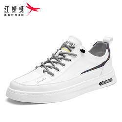 Red dragonfly shoes men's shoes 2021 summer new white shoes men's casual cloth shoes breathable all-match board shoes tide shoes