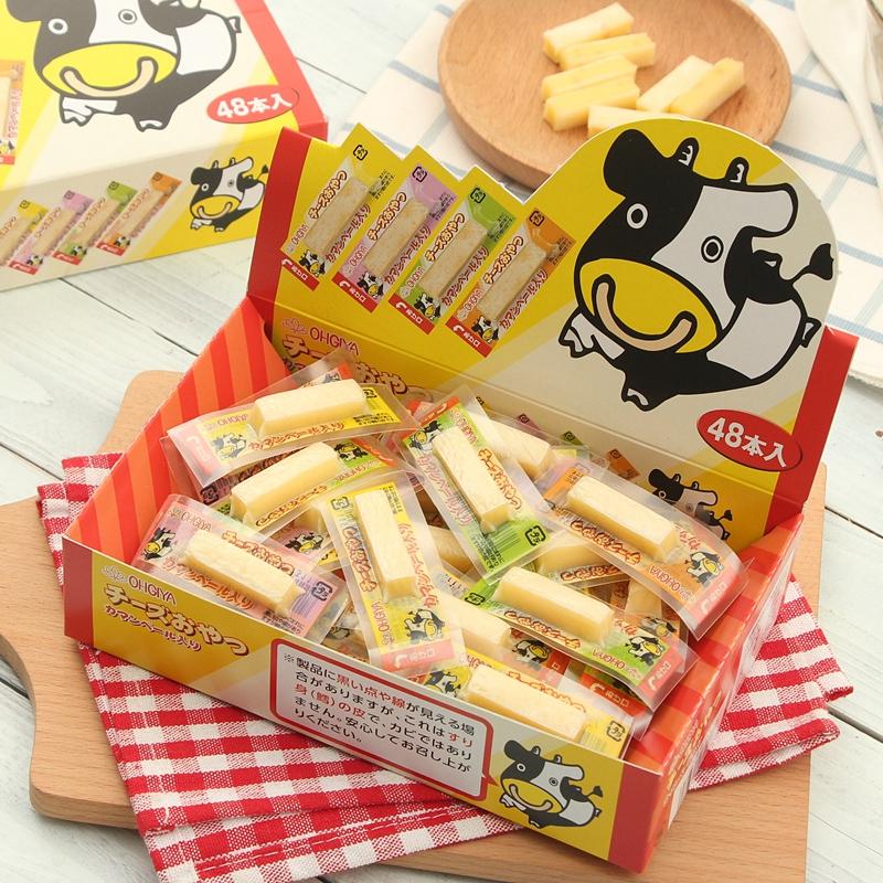 日本进口 OHGIYA 扇屋 DHA鳕鱼奶酪芝士条 2.8g*48条 天猫优惠券折后¥68包邮(¥78-10)