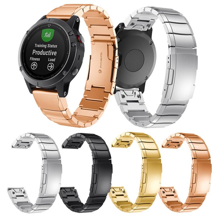 限時優惠 《iserise》 佳明 Fenix5S 手錶帶 一株不鏽鋼  Fenix5S Plus 金屬腕帶 智能手錶帶 替換腕帶