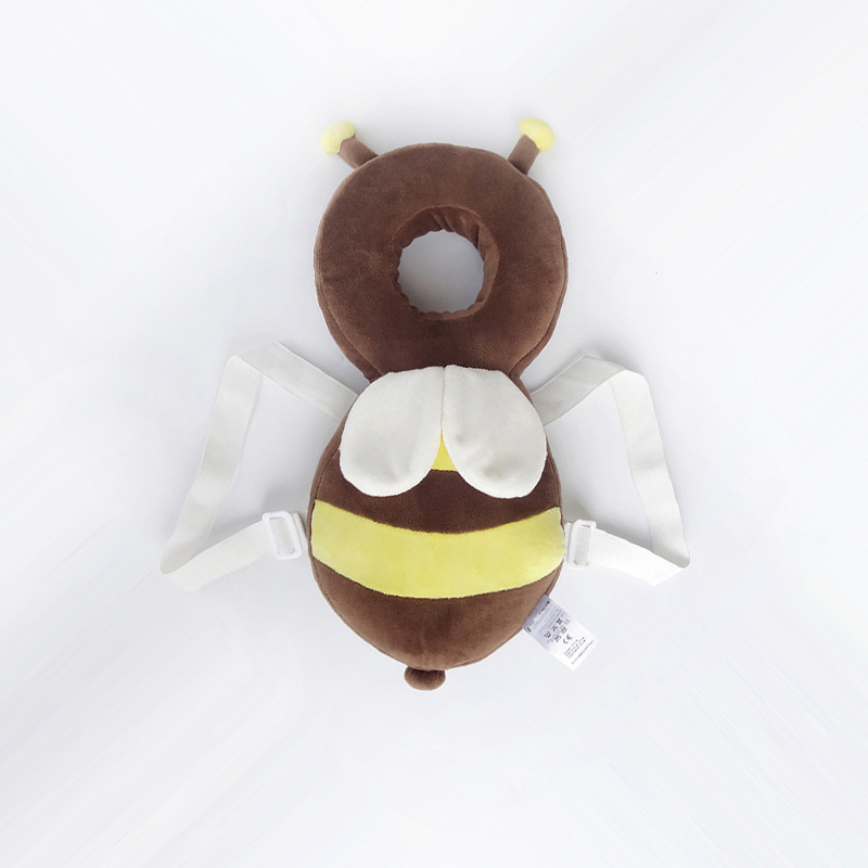 ORDINARY LARGE PLUSH BROWN BEE 35CM + HORIZONTAL BELT   WHITE STRAP WITH WHITE CROSS STRAP
