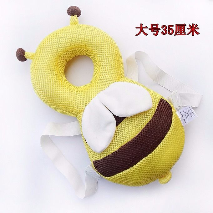ORDINARY LARGE GRID YELLOW BEE 35CM + HORIZONTAL BELT   WHITE STRAP WITH WHITE CROSS STRAP
