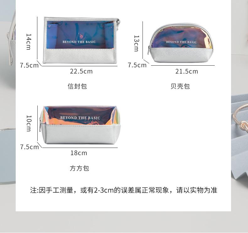 化妆包女新款超火风大容量化妆品收纳包可携式随身旅行透明详细照片