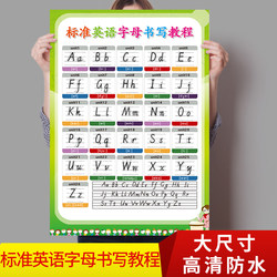 Preschool children 26 standard English alphabet writing wall charts English early education enlightenment English silent wall stickers ys