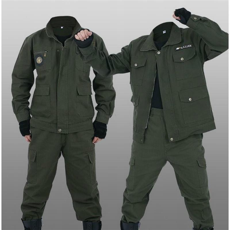 工作服套装男秋季电焊棉线工装汽修耐磨