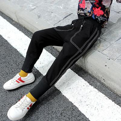 男童牛仔裤长裤2019秋冬装新款儿童裤子韩版洋气中大童休闲裤子潮