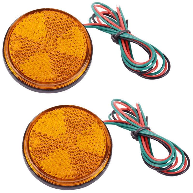 白雪兒摩托車改裝哈雷迅鷹鬼火踏板跨騎LED反光貼片轉向燈剎車燈后尾燈