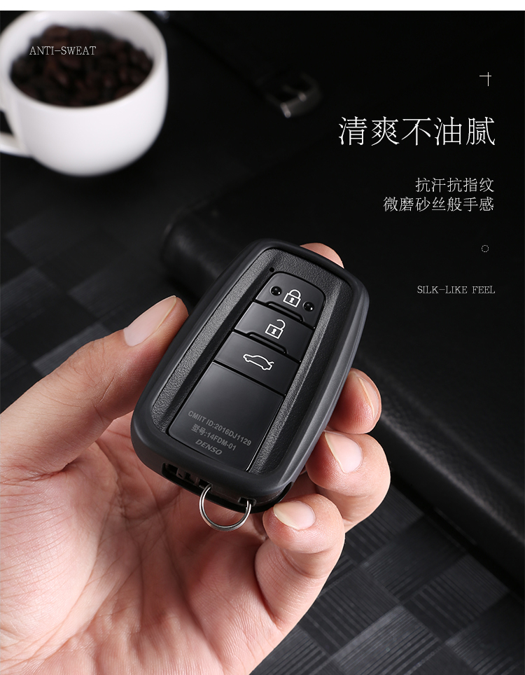 Ốp chìa khóa Toyota Camry 2019 nhựa TPU - ảnh 2