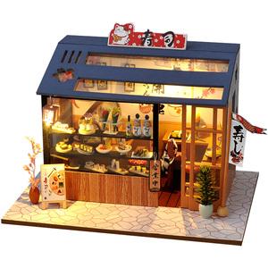 巧之匠diy小屋寿司店手工制作小房子模型拼装玩具创意生日礼物女