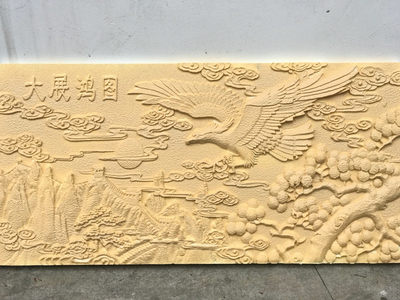 EPS villa mountain flower polyfyrene foam board imitation sand rock long formation product custom exterior wall decoration relief