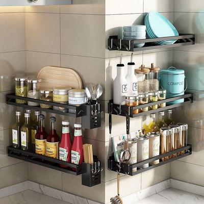 【德国工艺】厨房置物架免打孔壁挂式家用调味料刀架挂架神器