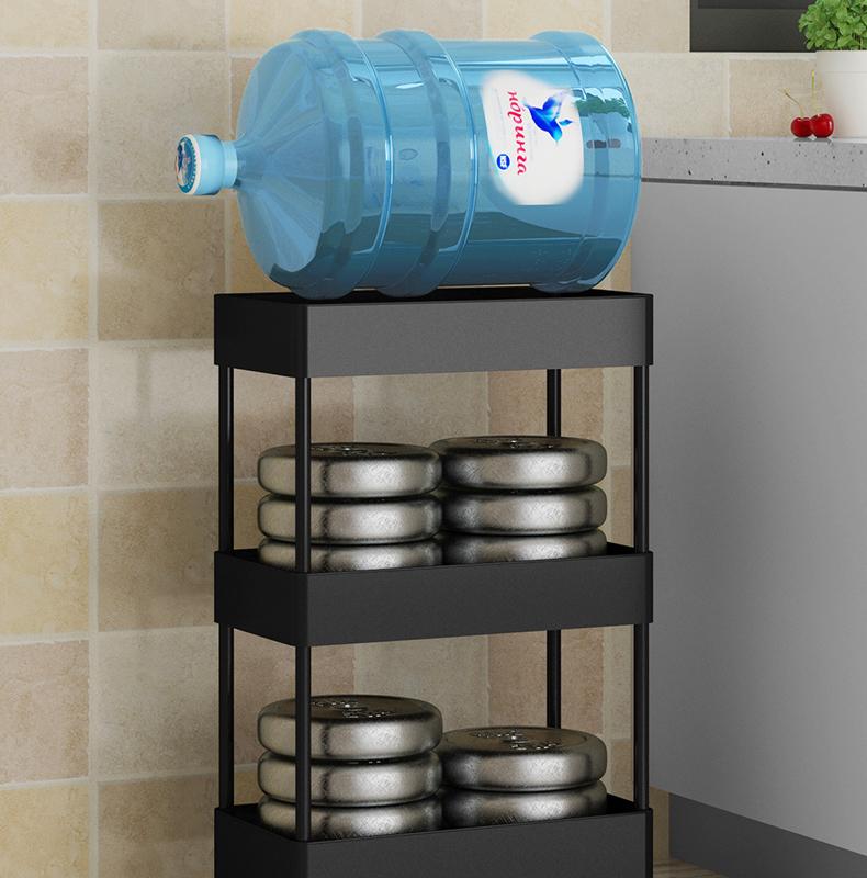 厨房夹缝置物架落地多层超窄冰箱侧边角缝隙小型收纳移动推车详细照片