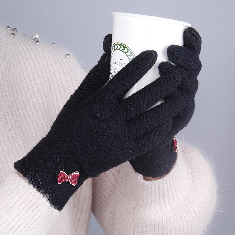 可触屏男士学生冬季针织玩手套v男士开车防滑a男士触摸屏女手机骑行