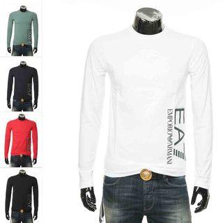 Armani/ armani EA7 заграница прямая почтовая рассылка простой дикий тенденция длинный рукав T футболки  3HPT64 PJ03Z, цена 5191 руб