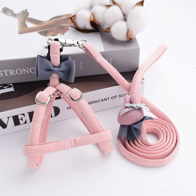 Pet puppy dog ​​traction rope tick cat with dog rope York Chaddy ultra-small puppies chest straps 2 pounds