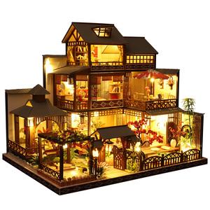 diy小屋日式别墅雅泉庭手工制作材料大型房子模型玩具生日礼物女