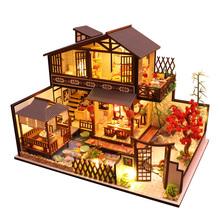 日式diy小屋手工制作小房子古建筑模型拼装玩具创意生日礼物