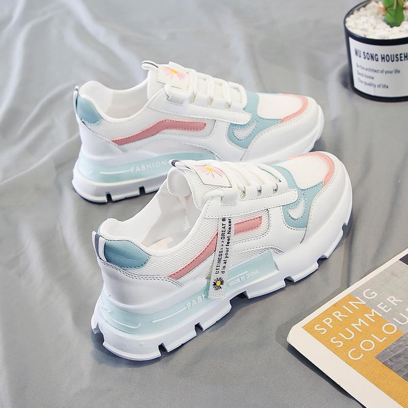 小白鞋女2021年夏季新款韩版潮百搭透气运动休闲鞋网红炸街老爹鞋