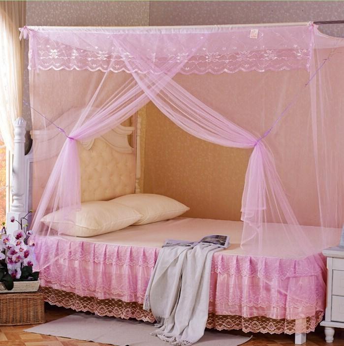 1.0m床单人床老款木床棉纱加密普通学生农村蚊帐家用老式薄款简单