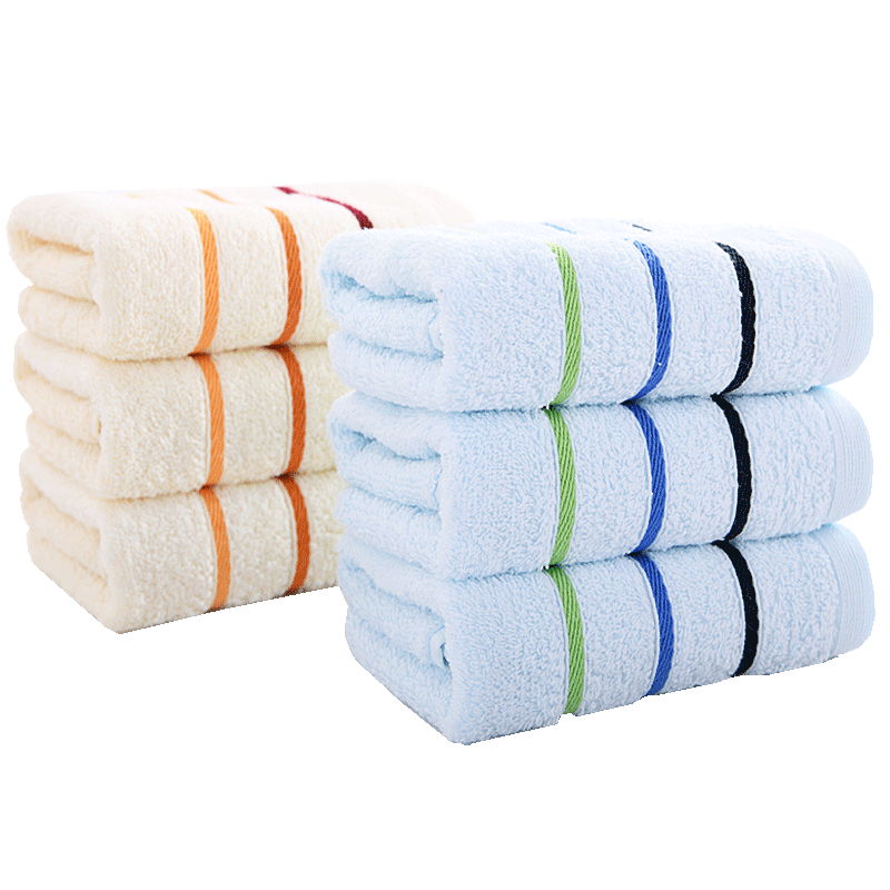 Khăn mặt tinh khiết cotton mặt rửa gia đình mềm 3 gói khăn mặt khăn bông lau tay tinh khiết bông thấm nước - Khăn tắm / áo choàng tắm