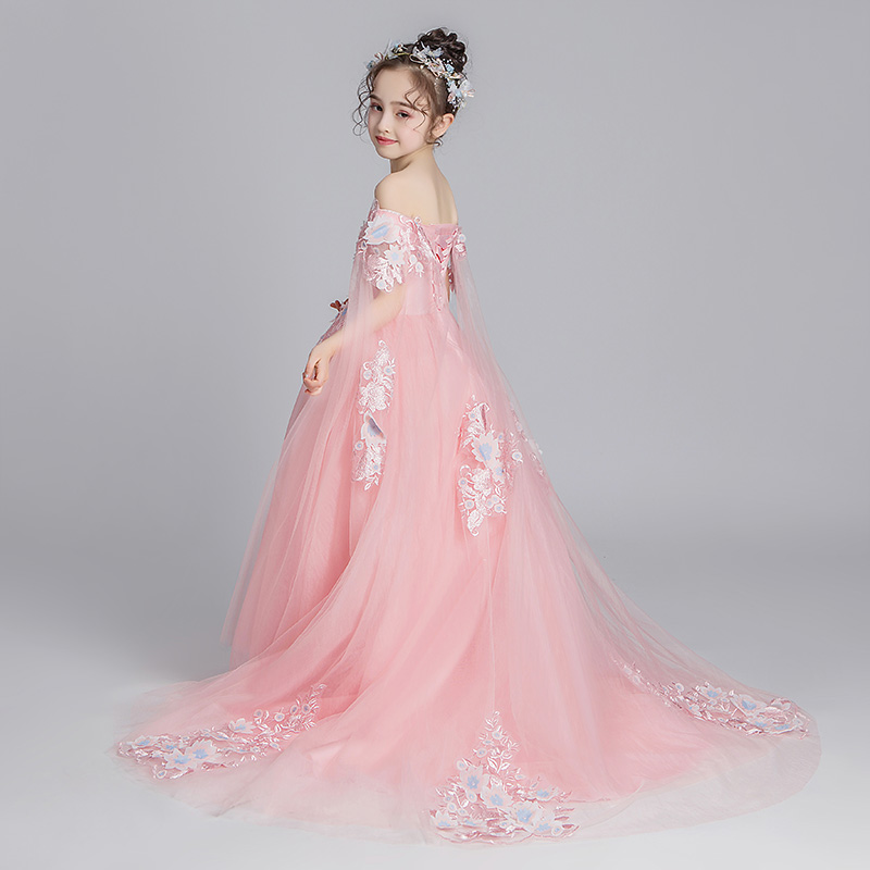 Children's evening dress, princess dress, canopy dress, girls' wedding dress, little model catwalk