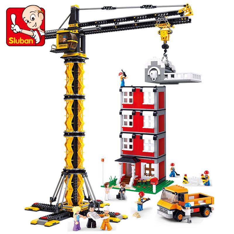 ????拼装男孩建筑工程机械玩具小小工程师搭建8积木6-12岁小学生