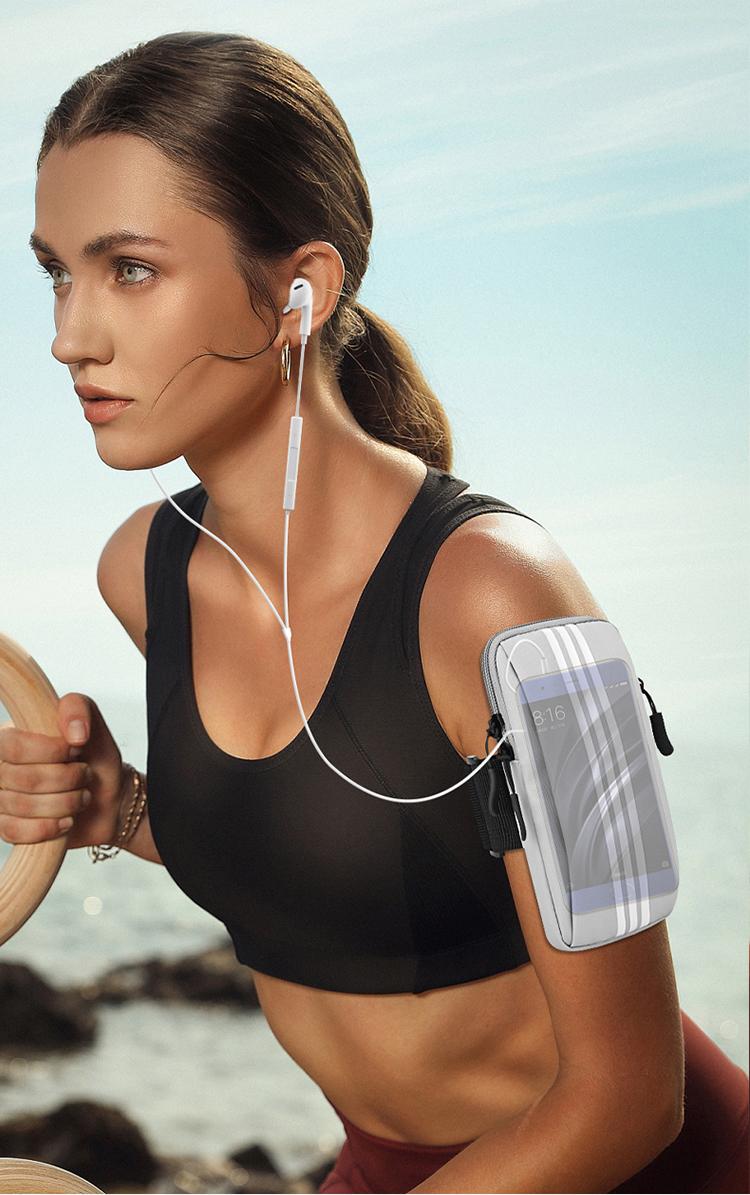 跑步手机臂套华为苹果手机袋男女通用手腕包运动健身装备臂套臂袋详细照片