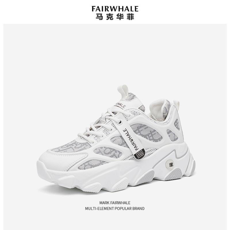 Mark Fairwhale 马克华菲 女式厚底增高老爹鞋