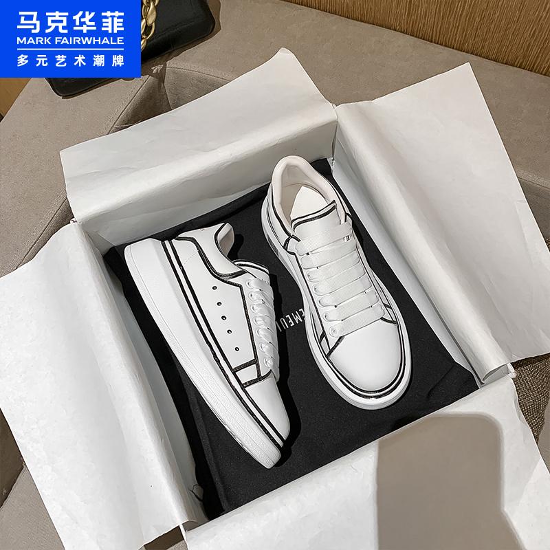 预售 马克华菲 21年春季款 女式厚底松糕鞋 板鞋 天猫优惠券折后¥119.2包邮(¥159.2-40)