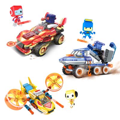布鲁可积木百变布鲁可战队拼插积木布鲁克儿童益智玩具车男孩女孩