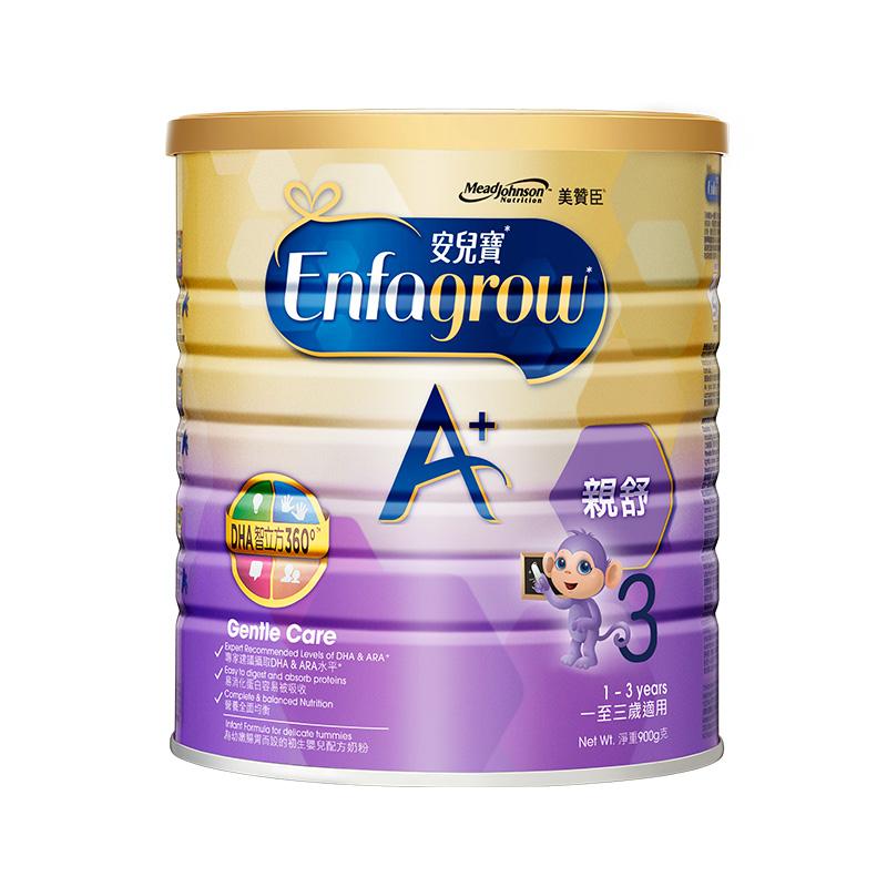 【直营】美赞臣亲舒系列婴儿成长配方奶粉3段(1-3岁)900克*1罐