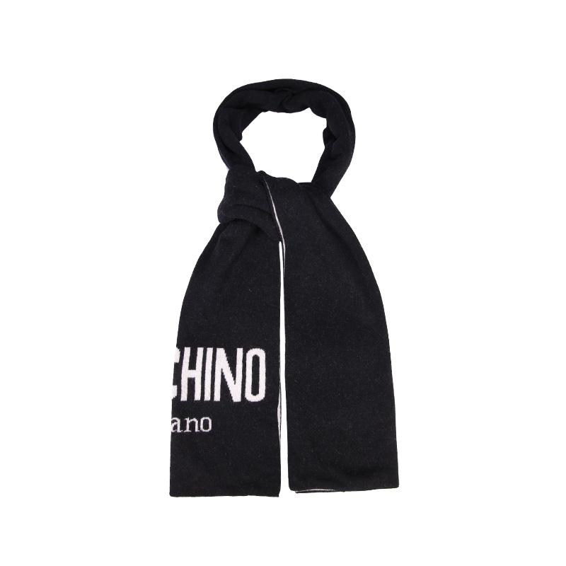 【直营】Moschino莫斯奇诺 Logo男女羊毛围巾送男女友礼物围脖