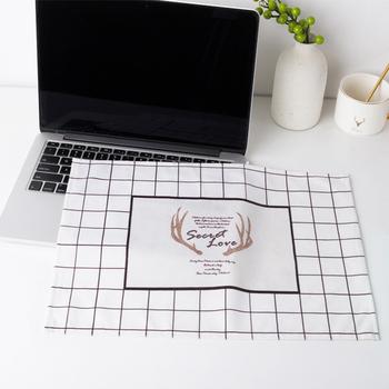 Чехлы для персональных компьютеров,  Сделанный на заказ простой ноутбук пылезащитный чехол ткань компьютер обложка тканевая крышка пыль защитный кожух ткань дисплей клавиатура крышка полотенце, цена 320 руб