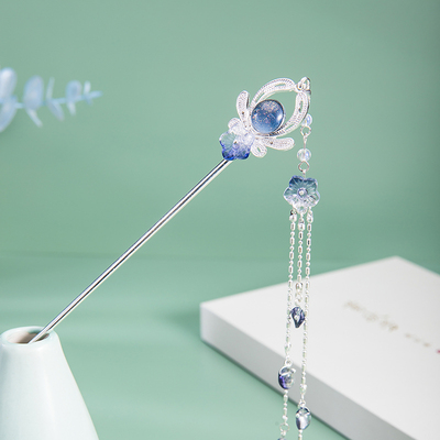 taobao agent 【Chao Yan Hairpin】Hairpin, ancient style, simple tassel step, shaking hairpin, super fairy Han clothing, hairpin, accessories, hairpin, headwear