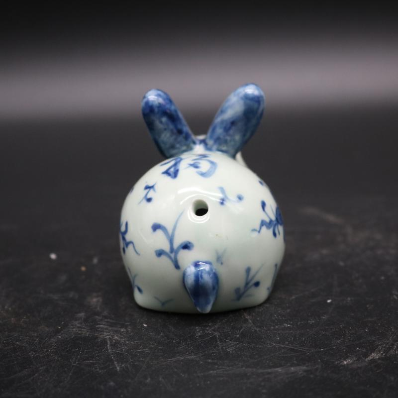 """Hand - made porcelain YanDi purse lucky rabbit drop """"four supplies ceramics crafts calligraphy ink stone grinding ink"""
