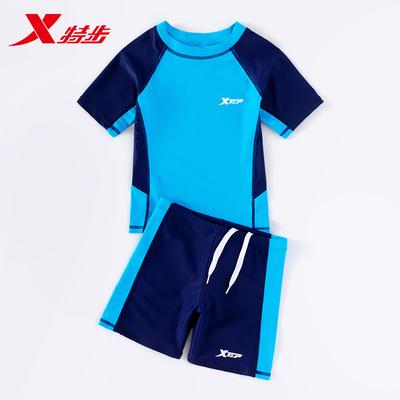 特步儿童泳衣男女童宝宝中大童分体游泳衣2021年新款速干泳裤装备