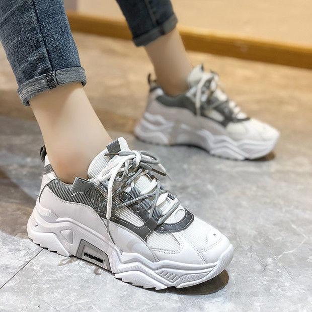2021春夏季新款网红百搭休闲鞋学生运动韩版单鞋老爹鞋女潮