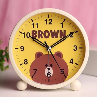 Small alarm clock student with children mute simple cute bedside luminous creative cartoon bedroom lazy personality clock